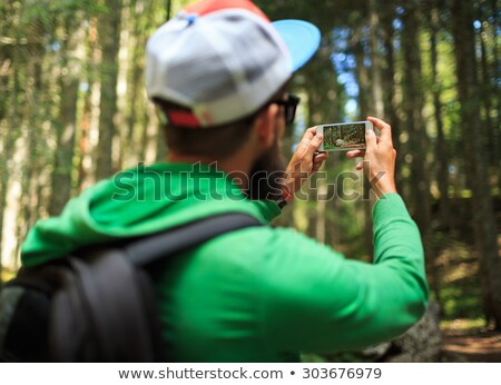 Сток-фото: человека · фотографий · смартфон · лес · парка