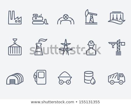 Coal miner line icon. Stock photo © RAStudio