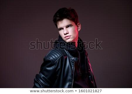 Portret biegun czarny skóry stwarzające ciemne Zdjęcia stock © feedough