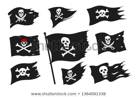 Jolly roger icon vector Stock photo © netkov1