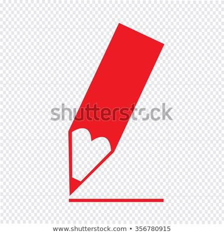 Crayon pointe icône illustration design bureau Photo stock © kiddaikiddee