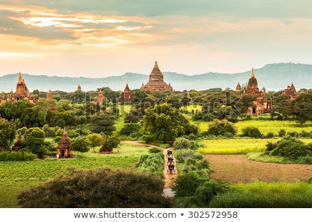 Myanmar landschap birma hemel zonsondergang reizen Stockfoto © Mikko