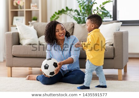 Toddler with a soccer ball Stock photo © zurijeta