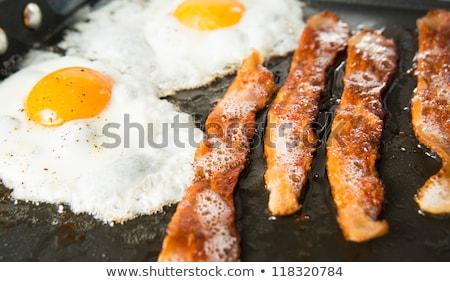 yumurta · tava · üst · görmek · kadın · el - stok fotoğraf © digifoodstock