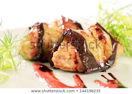 húsgombócok · finom · török · házi · zöld · hús - stock fotó © digifoodstock