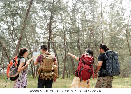 Group of soldiers in the forest Stock photo © bluering
