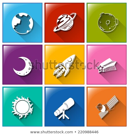 ícones coisas ilustração sol lua fundo Foto stock © bluering