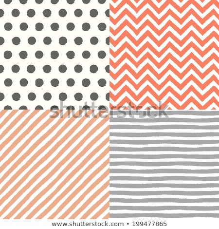 Vector Seamless Hand Drawn Diagonal Rounded Lines Pattern Stock photo © CreatorsClub