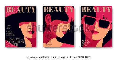 close up portrait of girl vector illustration stock photo © ussr