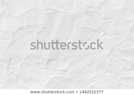 Beyaz sıva duvar yeşil ot çim mavi Stok fotoğraf © Taigi