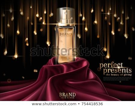 Perfum butelki kosmetycznych szablon kropelka Zdjęcia stock © frimufilms