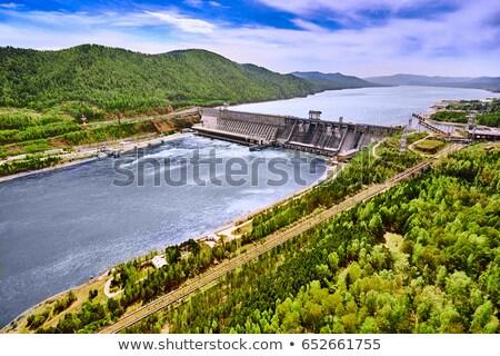 Hydroelectric power station dam in Imatra Stock photo © cookelma