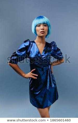 asiático · modelo · brilhante · make-up · queimadura · de · sol - foto stock © deandrobot