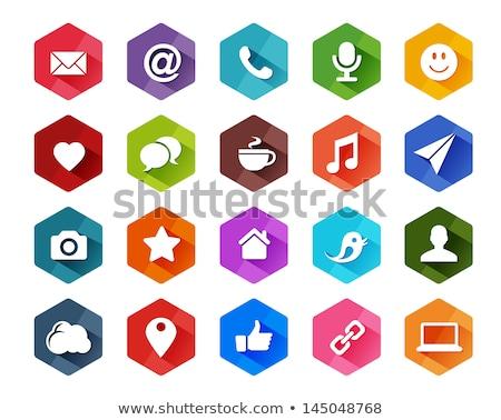 Rood iconen schaduwen internet teken groene Stockfoto © artrachen