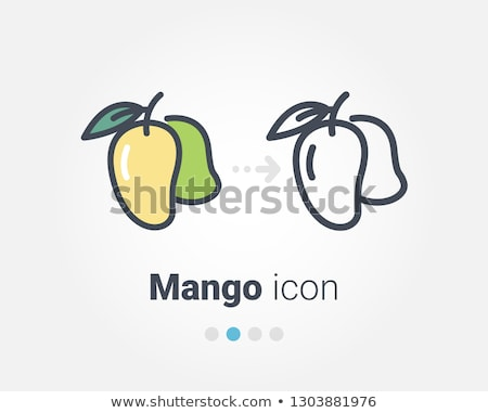 Mango icon oranje zwarte teken grafische Stockfoto © angelp