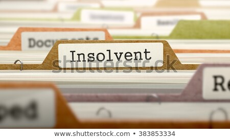 Bankrupts - Folder Name in Directory. Stock photo © tashatuvango