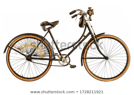 Retro bicycle for lady isolated on white background. stock photo © NikoDzhi