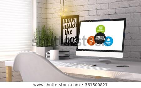 Inbound Marketing Concept on Laptop Screen. 3D Illustration. Stock photo © tashatuvango