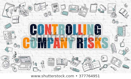 controlling company risks concept multicolor on white brickwall stock photo © tashatuvango