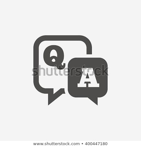 Pytania odpowiedzi podpisania pismo czarny atramentu Zdjęcia stock © PixelsAway
