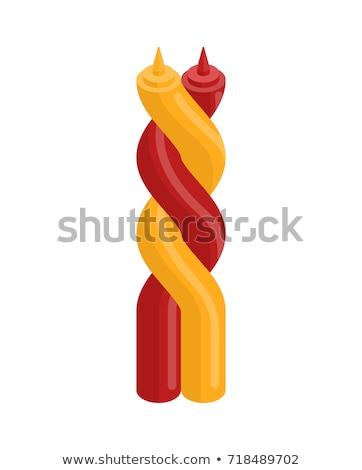 gezonde · ketchup · fles · gelukkig · voedsel - stockfoto © maryvalery