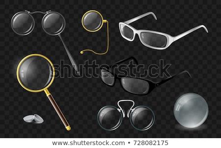 valósághű · vektor · izolált · clip · art · szett · szemüveg - stock fotó © decorwithme