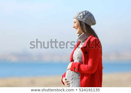 Pregnant woman contemplating view Stock photo © IS2