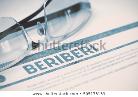 Diagnosis - Beriberi. Medicine Concept. 3D Illustration. Stock photo © tashatuvango