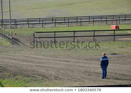 man standing at a road looking at viewer Stock photo © IS2