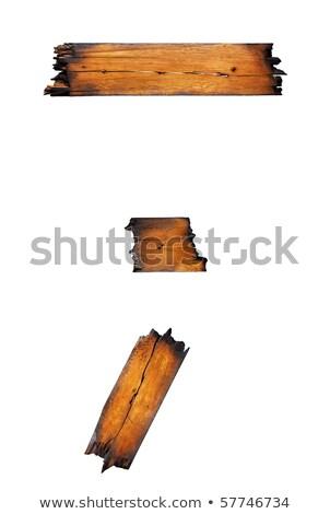 Charred Wood 1 Stock photo © peterguess