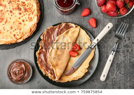 crepe with chocolate and berry Stock photo © M-studio