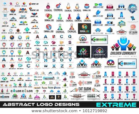 büyük · ayarlamak · vektör · logolar · imzalamak - stok fotoğraf © davidarts