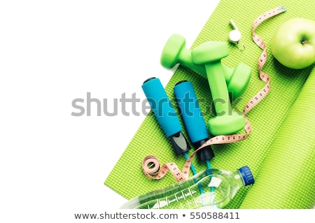 apple water and dumbbell stock photo © m-studio