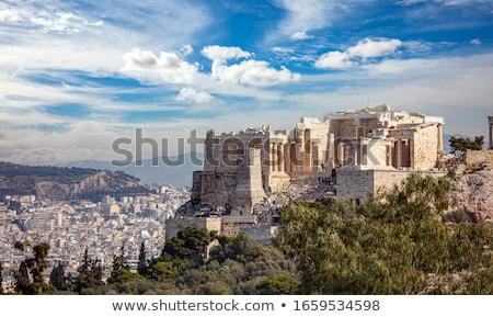 Pillars of Propylaia gateway in Acropolis of Athens, Greece Stock photo © ankarb