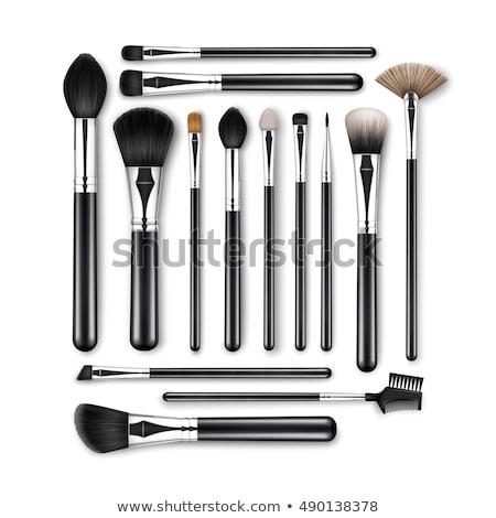 profissional · make-up · ferramentas · pincéis · de · maquiagem · cosméticos · batom - foto stock © flisakd