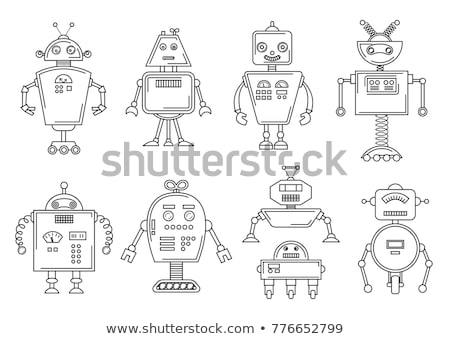 Space Robot coloring book. Cybernetic mechanism with artificial  Stock photo © popaukropa