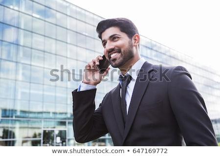 Barbudo árabe empresário escritório trabalhando computador Foto stock © studioworkstock