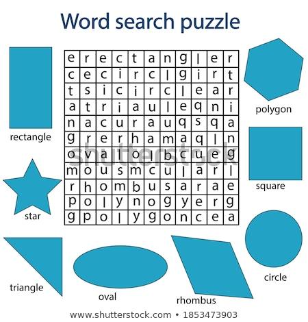 months crossword game stock photo © olena