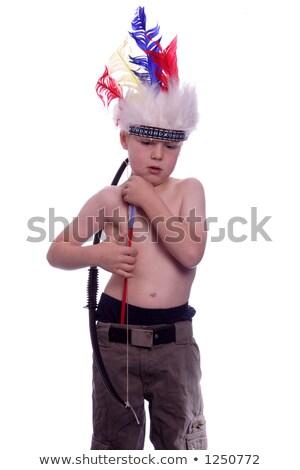 Speelgoed cowboy boeg pijl Stockfoto © IS2
