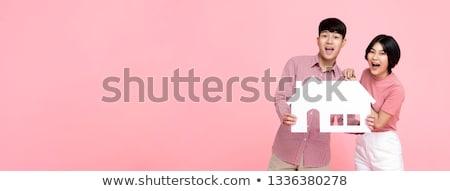 Para model domu kobieta człowiek Zdjęcia stock © IS2