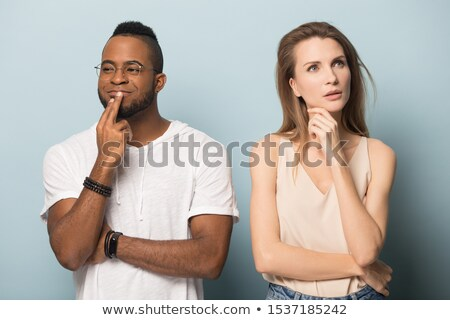 Couple making facial expression and having fun Stock photo © wavebreak_media