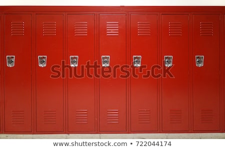 Close-up of red lockers Stock photo © wavebreak_media