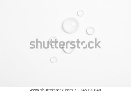 Transparent water drop on white background Stock photo © sidmay