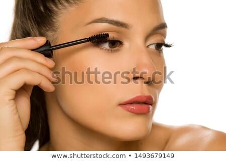 Meisje mascara vrouw jeugd glamour Stockfoto © IS2