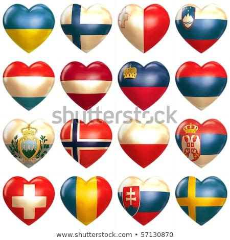 Heart with flag of liechtenstein Stock photo © MikhailMishchenko