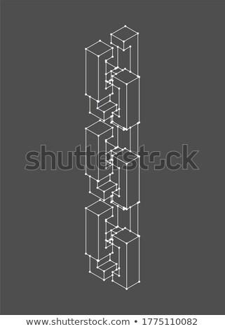 Netwerk geïsoleerd matrix keten business computer Stockfoto © popaukropa