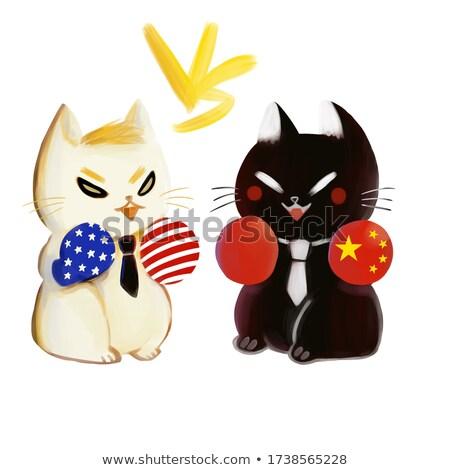 США Китай переговоры два Мир Сток-фото © Macartur888