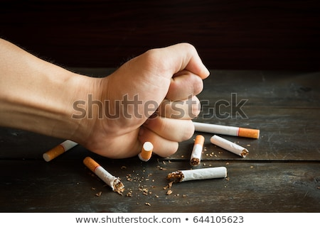 An Education Poster of Smoking and Health Stock photo © bluering