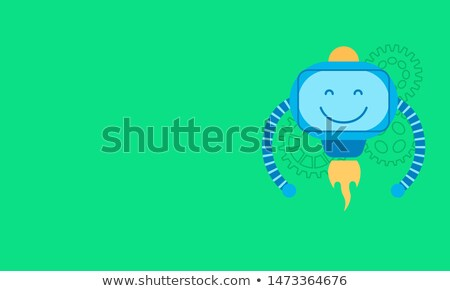 robot · mosoly · poszter · szöveg · nagy · minta - stock fotó © robuart