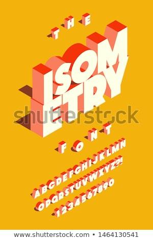 isometric font letters 3d vector eps illustration stock photo © tashatuvango